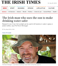 Interview with Prof. Kevin McGugan published in the Irish Times