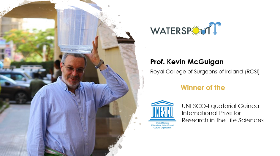 WATERSPOUTT project coordinator wins the UNESCO-Equatorial Guinea International Prize for Research in the Life Sciences