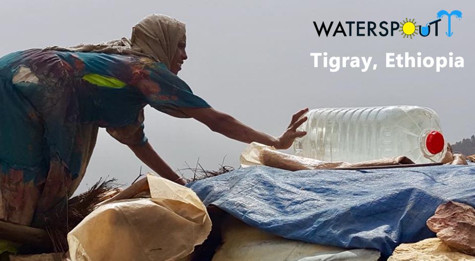 Transparent Solar water disinfection containers in Tigray
